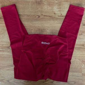 Echt Pants Jumpsuits Force Scrunch Leggings Crimson Small 8 Poshmark